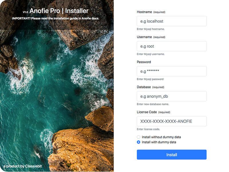 Anofie Pro Installer