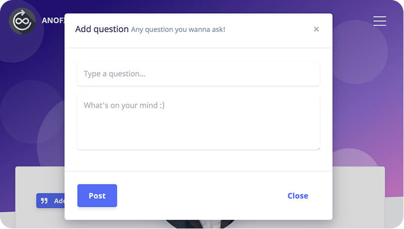 Ask Questions with status